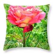 Irish Rose  Throw Pillow