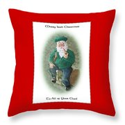 Irish Santa Card Throw Pillow