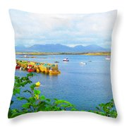 Roundstone Seaport Throw Pillow