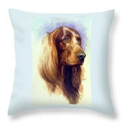 Irish Setter Throw Pillow
