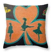 Irish Step Dancers Throw Pillow
