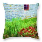 Irish Stone House Throw Pillow