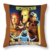Irish Terrier Art Canvas Print - The Fifth Element Movie Poster Throw Pillow