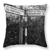 Irish Village Sign County Limerick. Throw Pillow