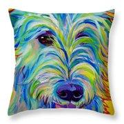 Irish Wolfhound - Angus Throw Pillow