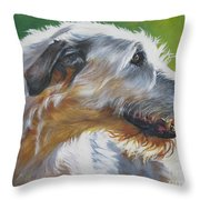 Irish Wolfhound Beauty Throw Pillow