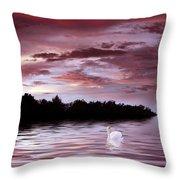 Sunset Swim Throw Pillow