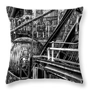 Iron Age - Bethelehem Steel Mill Throw Pillow