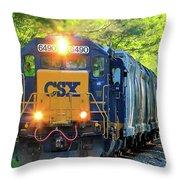 Iron Age Engineers Csx Locomotive Art Throw Pillow