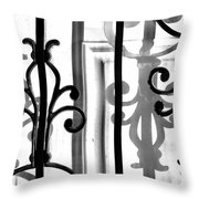 Iron And Shadow Throw Pillow