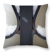 Iron And Snow Throw Pillow