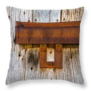 Iron And Wood Throw Pillow