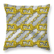 Iron Chains With Brushed Metal Texture Throw Pillow