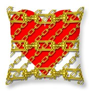 Iron Chains With Heart Texture Throw Pillow