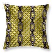 Iron Chains With Knit Seamless Texture Throw Pillow