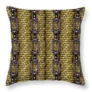 Iron Chains With Money Seamless Texture Throw Pillow