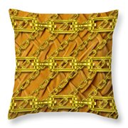 Iron Chains With Plush Texture Throw Pillow