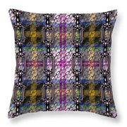 Iron Chains With Tartan Seamless Texture Throw Pillow