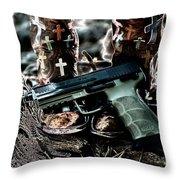 Iron Cross Throw Pillow