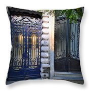 Iron Door Of Brussels Throw Pillow