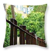 Iron Fence 2 Throw Pillow
