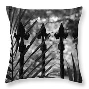Iron Fence Throw Pillow