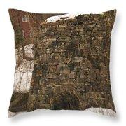 Iron Furnace Throw Pillow