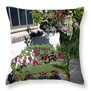 Iron Garden Bench Throw Pillow
