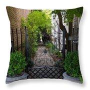 Iron Gate Alley Throw Pillow