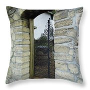 Iron Gate To The Garden Throw Pillow