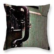 Iron Ic Door Handle Throw Pillow