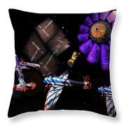Iron In The Sky Throw Pillow