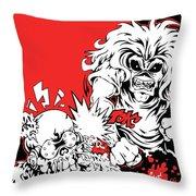 Iron Maiden Vs Megadeth Throw Pillow