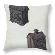 "Iron ""bank"" Bank Throw Pillow"