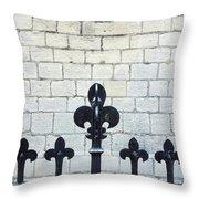 Iron Railings Detail  Throw Pillow