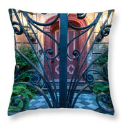 Iron Scroll Entrance Throw Pillow
