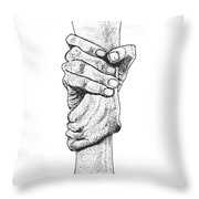 Iron Sharpens Iron Throw Pillow