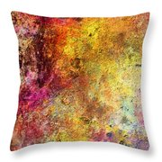 Iron Texture Painting Throw Pillow