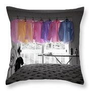 Ironing Adds Color To A Room Throw Pillow