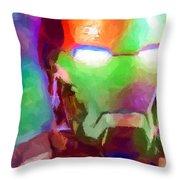 Ironman Abstract Digital Paint 1 Throw Pillow