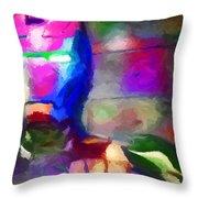 Ironman Abstract Digital Paint 3 Throw Pillow