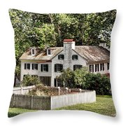 Ironmaster Mansion At Hopewell Furnace  Throw Pillow
