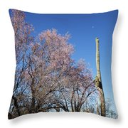 Ironwood And Saguaro Throw Pillow