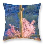 Ironwood Saguaro Dance Throw Pillow