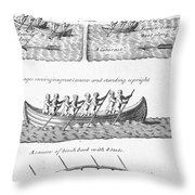 Iroquois Canoes Throw Pillow