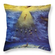 Iroquois Creation Myth Throw Pillow
