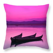 Irrawaddy River Throw Pillow