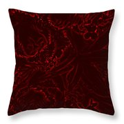 Irridescent Red Throw Pillow
