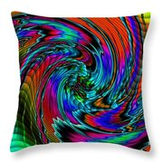 Irritations Converging Into A  Swirl Catus 1 No. 1 H A Throw Pillow
