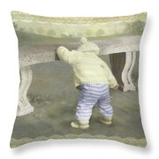 Is Bunny Under The Bench? Throw Pillow